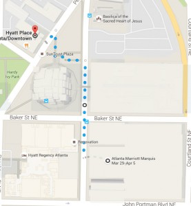 Hyatt Place map