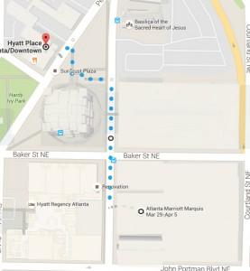 Hyatt Place map