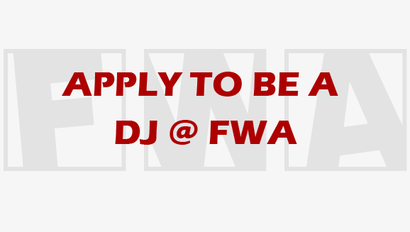 DJs! Applications are now closed!